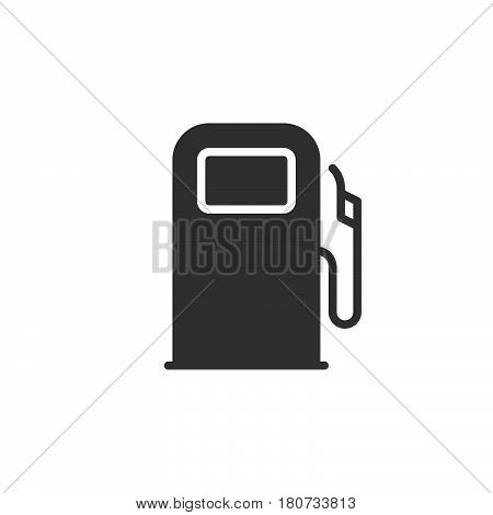 Gas station fuel dispenser icon vector filled flat sign solid pictogram isolated on white. Symbol logo illustration. Pixel perfect
