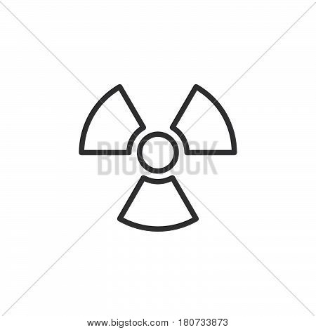 Radiation Symbol line icon outline vector sign linear style pictogram isolated on white. Logo illustration. Editable stroke. Pixel perfect