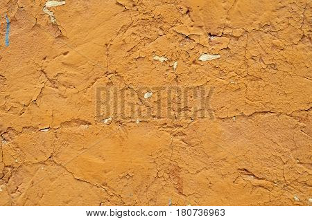 Obsolete grungy orange background of natural cement or stone old wall texture pattern
