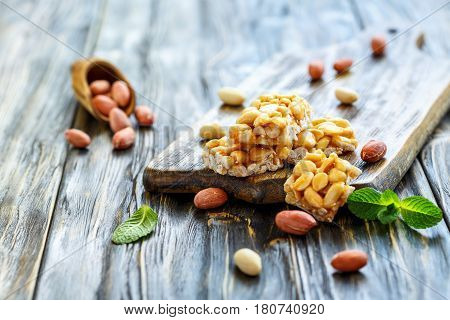 Peanuts In A Honey Glaze And A Peanut.