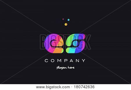 Es E S  Colored Rainbow Creative Colors Alphabet Letter Logo Icon