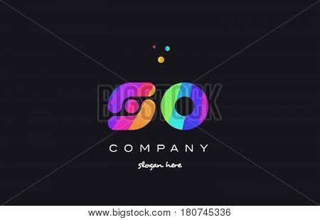So S O  Colored Rainbow Creative Colors Alphabet Letter Logo Icon