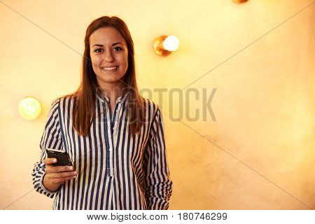 Lovely Young Millennial Smiling For Camera