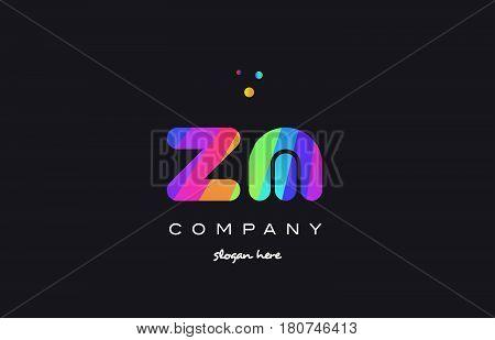 Zl Z L  Colored Rainbow Creative Colors Alphabet Letter Logo Icon