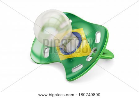 Brazilian Maternity and birthrate in Brazil concept 3D rendering isolated on white background