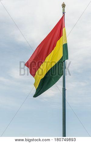 Bolivian Flag Fluttering