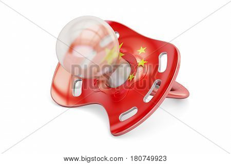 Chinese Maternity and birthrate in China concept 3D rendering isolated on white background