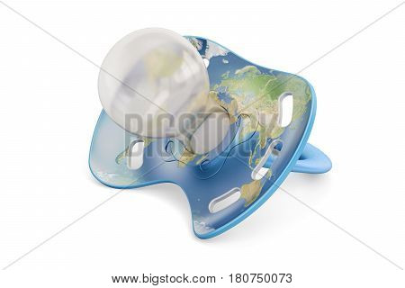 population and birth rate of people on the Earth concept 3D rendering isolated on white background