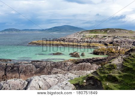 Small rocky beach on the Isle of Harris, Outer Hebrides, Scotland