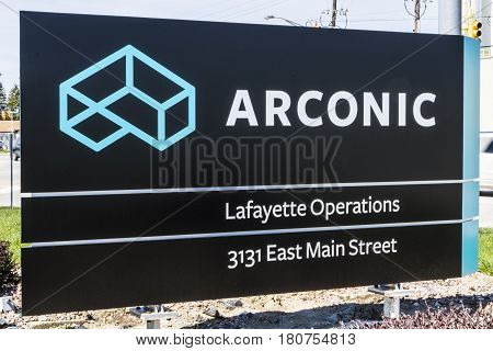 Lafayette - Circa April 2017: Arconic Forging And Extrusion Plant. Arconic Was Spun Off Of Alcoa In