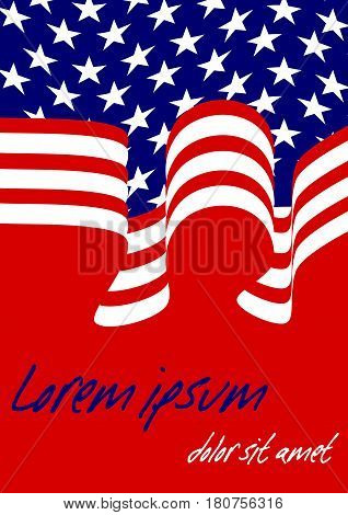American falg inspired background in American national colors area for own message vector EPS 10