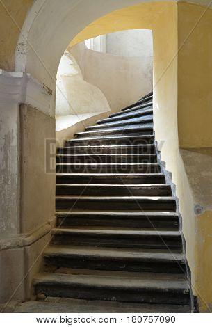 Aiud city romania medieval church interior stairs architecture