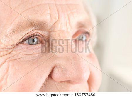 Portrait of elderly woman, closeup