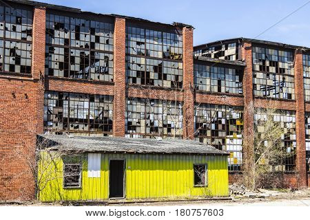 Urban Blight - Old Abandoned Railroad Factory I