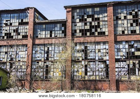 Urban Blight - Old Abandoned Railroad Factory X