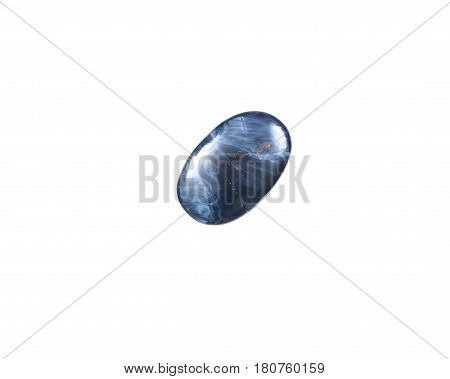 Pietersite cabochon extra from Namibia isolated on white background