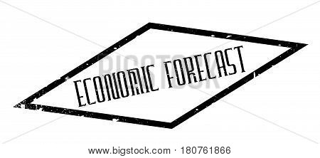 Economic Forecast rubber stamp. Grunge design with dust scratches. Effects can be easily removed for a clean, crisp look. Color is easily changed.