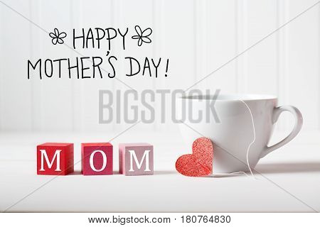 Mother's Day Message With Coffee Cup