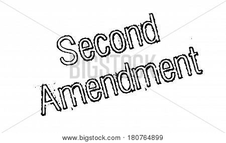 Second Amendment rubber stamp. Grunge design with dust scratches. Effects can be easily removed for a clean, crisp look. Color is easily changed.