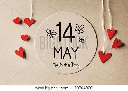 14 May Mothers Day Message With Small Hearts