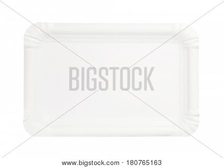 disposable rectangle white paper plate