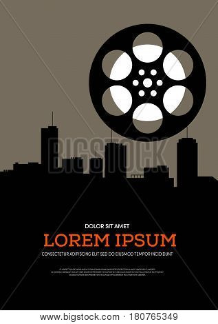 Movie and film retro vintage can be used for poster background brochure leaflet flyer vector illustration