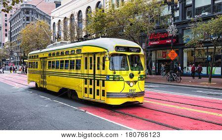 San Francisco Ca, Usa, Historic Street Car