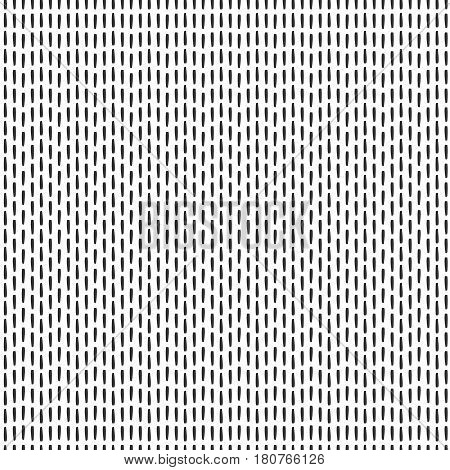 Handmade monochrome seamless vector texture - dashed line drawn by ink. For background, textile and more.
