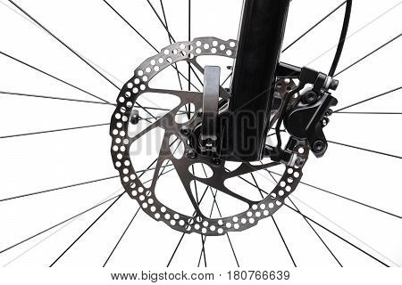 Front disc brake for mountain bike isolated