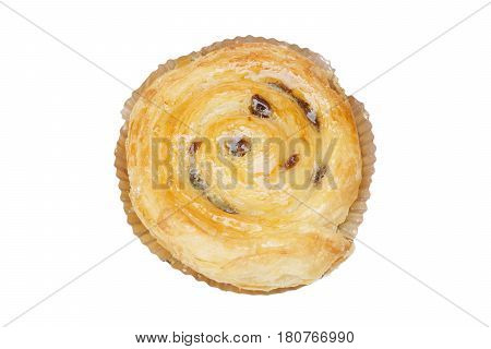 Danish Pastry Dough isolated on white background