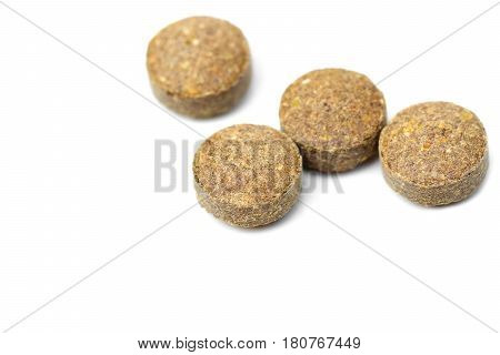Closeup of Herbal medicine isolated on white background