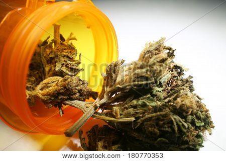 Medical Cannabis Buds Close Up High Quality