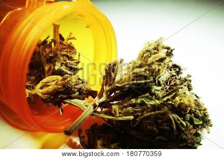 Marijuana Coming Out Of Prescription Bottle High Quality