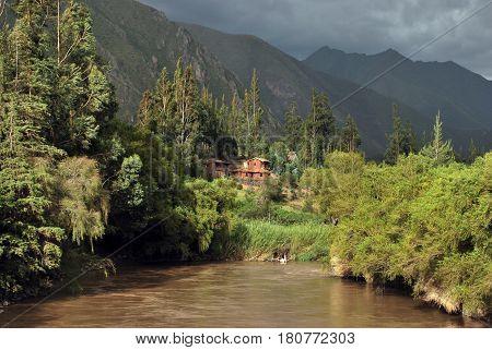 River in the Urubamba Valley near Cusco, Peru