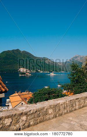 The island of Gospa od Skrpela, Kotor Bay, Montenegro.