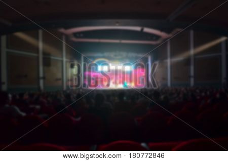 Abstract blurred background of Audience Theater .
