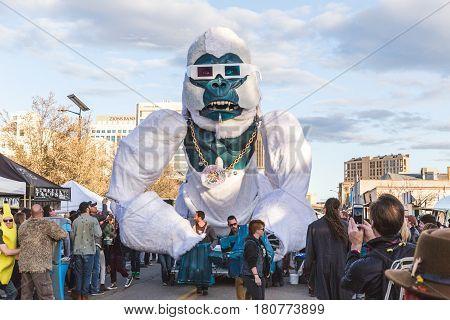 Giant Gorilla At Music Festival