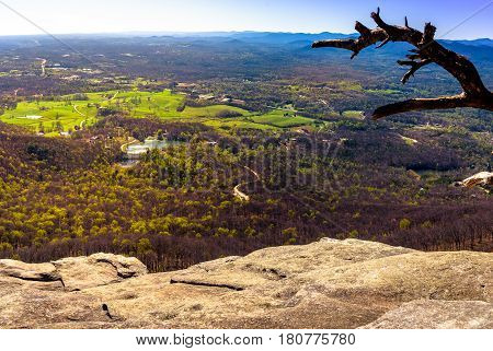 Panoramic view of Cleveland Georgia from the top of Yonah Mountain