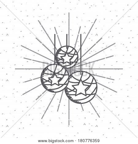 decorative balls icon over white background. usa indepence day design. vector illustration