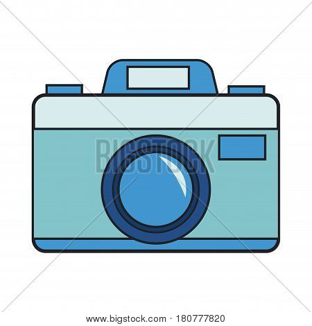 photographic camera icon over white background. colorful design. vector illustration