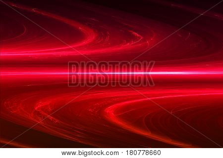 Red Circular Glow Wave. Lighting Effect Abstract Background.