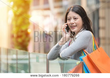 Fashion Woman Shopping Bags And Smart Phone