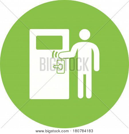 Door, knocking, delivery icon vector image. Can also be used for city lifestyle. Suitable for use on web apps, mobile apps and print media.