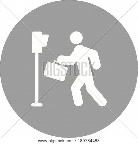 Crossing, pedestrian, road icon vector image. Can also be used for city lifestyle. Suitable for use on web apps, mobile apps and print media.