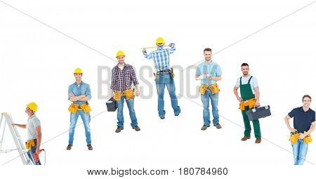 Digital composite of different carpenters