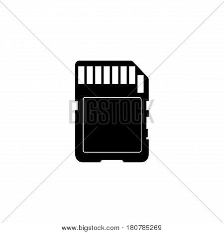 SD Card icon vector, solid illustration, pictogram isolated on white