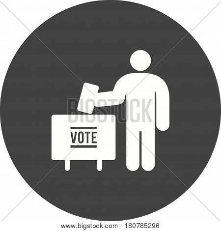 Voting, public, elections icon vector image. Can also be used for city lifestyle. Suitable for use on web apps, mobile apps and print media.