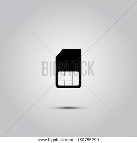 sim card icon, flat design best vector icon