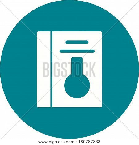 Chemistry, book, research icon vector image. Can also be used for chemistry. Suitable for mobile apps, web apps and print media.