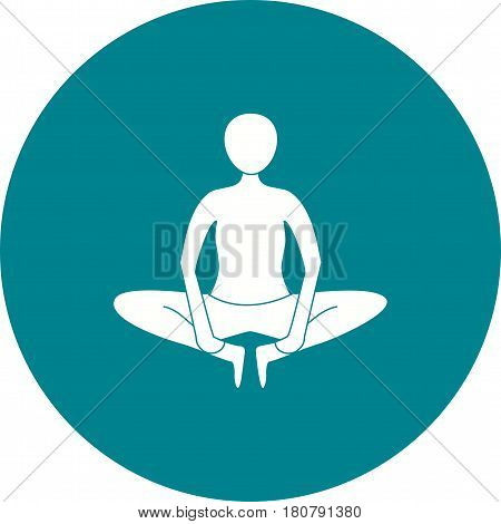 Yoga, pose, angle icon vector image. Can also be used for yoga poses. Suitable for mobile apps, web apps and print media.